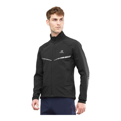 SALOMON - RS WARM SOFTSHELL - Veste Homme black