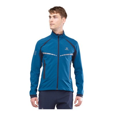 SALOMON - RS WARM SOFTSHELL - Veste Homme poseidon/night sky