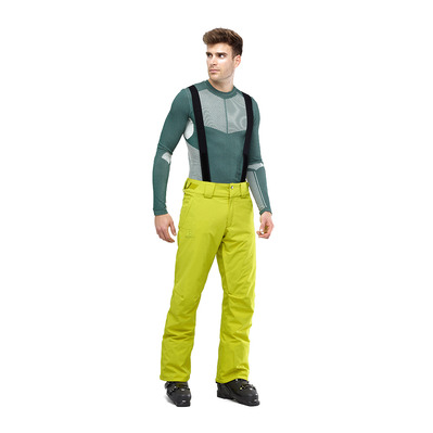 SALOMON - STORMSEASON - Ski Pants - Men's - citronella