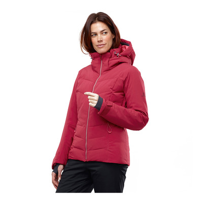 SALOMON - ICEPUFF - Ski Down Jacket - Women's - rio red