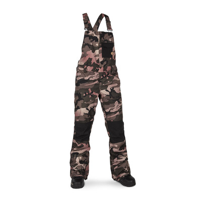 VOLCOM - SWIFT OVERALL - Salopette snow Femme faded army