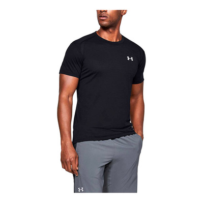 UNDER ARMOUR - STREAKER 2,0 - T-shirt Uomo black/black/reflective