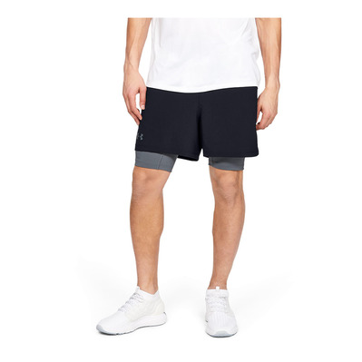 UNDER ARMOUR - Qualifier 2-in-1 Short-BLK Homme Black1345320-001