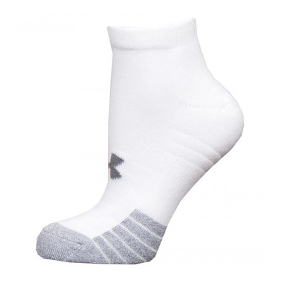 UNDER ARMOUR - HEATGEAR LOCUT - Calcetines x3 white/white/steel