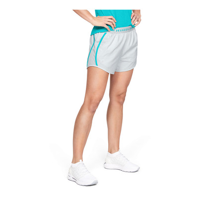 UNDER ARMOUR - FLY BY EXPOSED - Short Femme halo gray