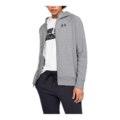 UNDER ARMOUR - RIVAL FLEECE SPORTSTYLE LC SLEEVE GRAPHI Femme Steel Medium Heather1348559-035