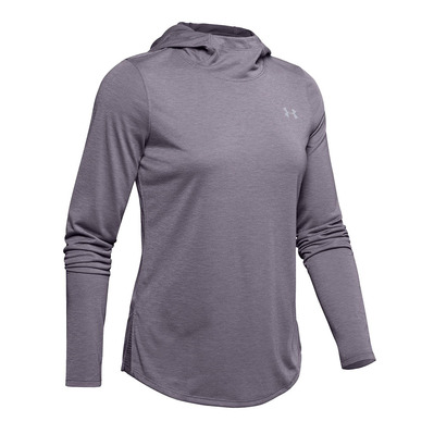 UNDER ARMOUR - UA Streaker 2.0 Long Sleeve Hoodie-GRY Femme Flint1342897-033