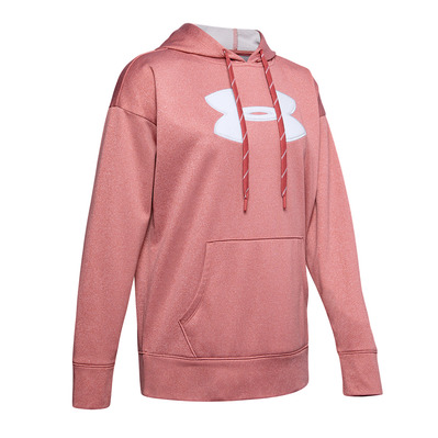 UNDER ARMOUR - SYNTHETIC FLEECE CHENILLE LOGO PO HOODIE Femme Fractal Pink Light Heather1348246-692
