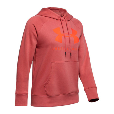 UNDER ARMOUR - RIVAL FLEECE SPORTSTYLE GRAPHIC - Sweat Femme fractal pink