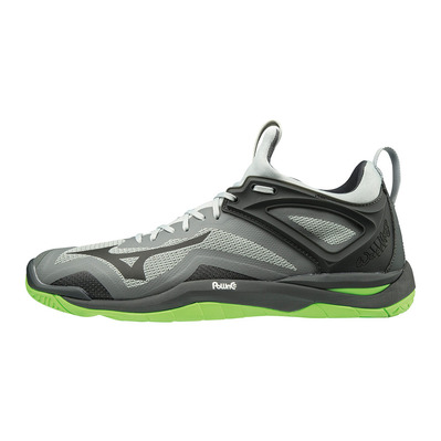 MIZUNO - WAVE MIRAGE 3 - Chaussures handball highrise/blk/greengecko