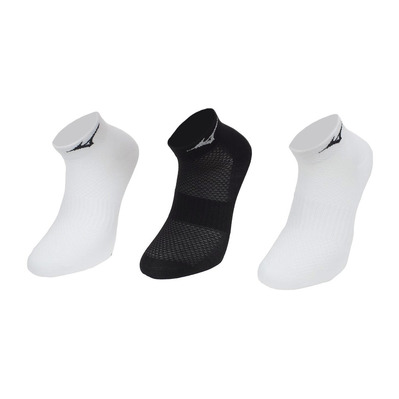 MIZUNO - TRAINING MID - Chaussettes x3 white/white/black