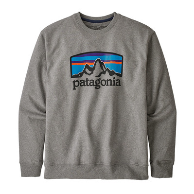 PATAGONIA - FITZ ROY HORIZONS UPRISAL CREW - Sweat Homme gravel heather