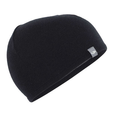 ICEBREAKER - POCKET - Bonnet réversible black/gritstone hthr