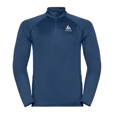 ODLO - Pull 1/2 zip ZEROWEIGHT CERAMIWARM Homme estate blue