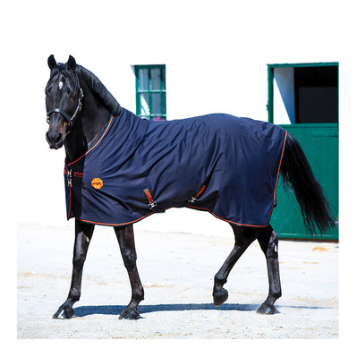 HORSEWARE - RAMBO IONIC - Chemise polaire black/black/orange stripe