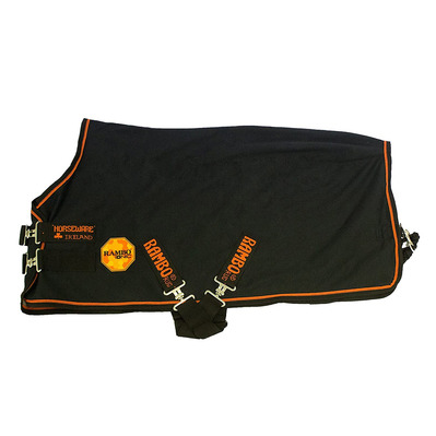 HORSEWARE - Rambo Ionic Fleece Unisexe Black/Black & Orange Stripe