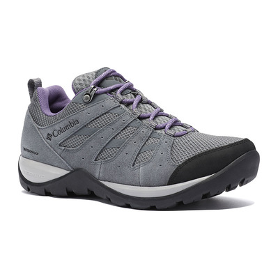 COLUMBIA - REDMOND V2 WP - Chaussures randonnée Femme grey steel/plum purple