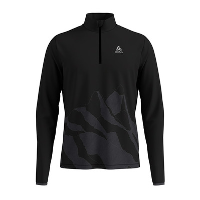 ODLO - TRAFOI - Sweat Homme black/placed print