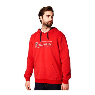 HELLY HANSEN - 1877 HOODIE - Sweat Homme flag red
