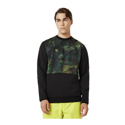 OAKLEY - JAZZ HANDS DWR CREW NECK - Sweat Homme geo camo