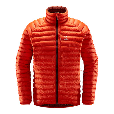HAGLOFS - ESSENS MIMIC - Down Jacket - Men's - habanero/maroon red