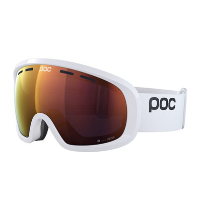 POC - FOVEA MID CLARITY - Masque ski hydrogen white/spektris orange