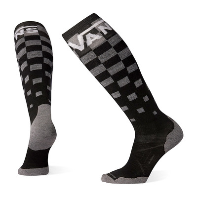 SMARTWOOL - PHD VANS CHECKER LIGHT ELITE - Chaussettes snow black