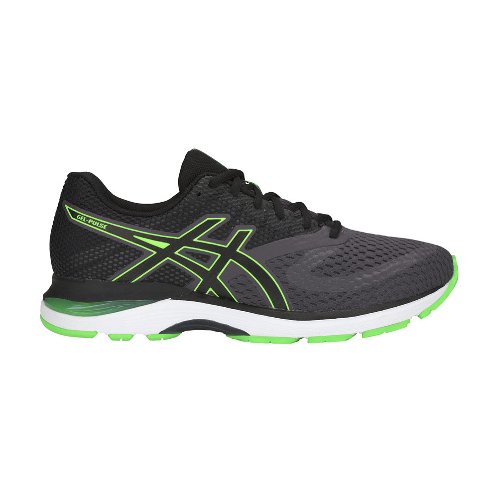 Digital Tomate halcón  RUNNING CLOTHING & EQUIPMENT Asics GEL-PULSE 10 - Running Shoes - Men's -  dark grey/green gecko - Private Sport Shop