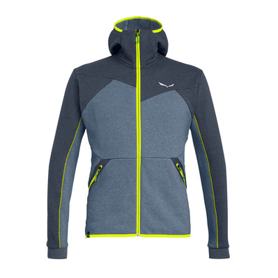 SALEWA - SOLID LOGO DRY - Fleece - Men's - ombre blue melange