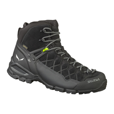 SALEWA - ALP TRAINER MID GTX - Hiking Shoes - Men's - black/black