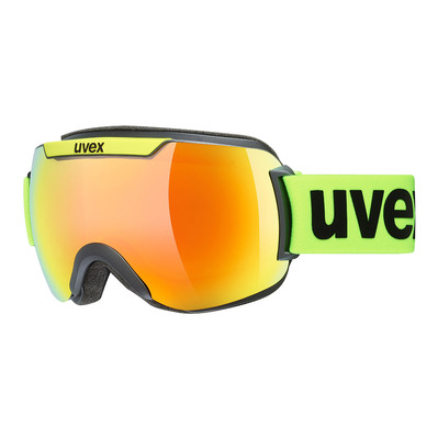 UVEX - DOWNHILL 2000 CV - Masque ski black lime mat/mirror orange radar