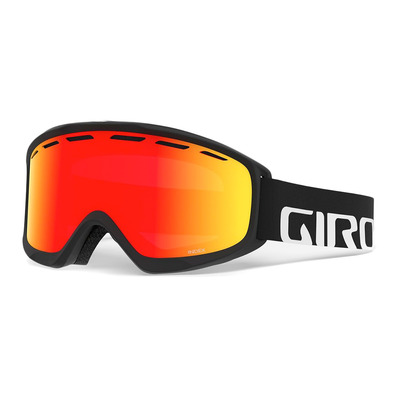 GIRO - INDEX - Masque ski black wordmark vivid ember