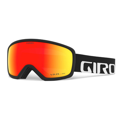 GIRO - RINGO - Masque ski black wordmark vivid emerald