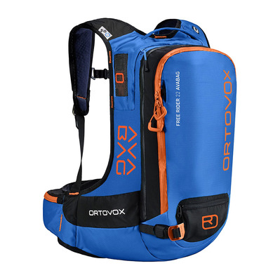 ORTOVOX - FREE RIDER AVABAG 22L - Sac airbag safety blue