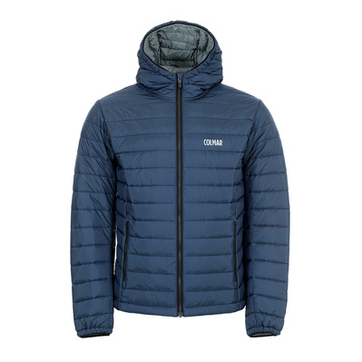 COLMAR - HOODED PRIMALOFT QUILTED - Doudoune Homme blue black/greystone