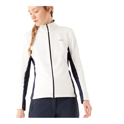 COLMAR - FULL ZIP STRETCH - Sweat Femme white/blue black