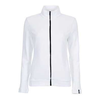 COLMAR - FULL ZIP JACQUARD - Sweat Femme white