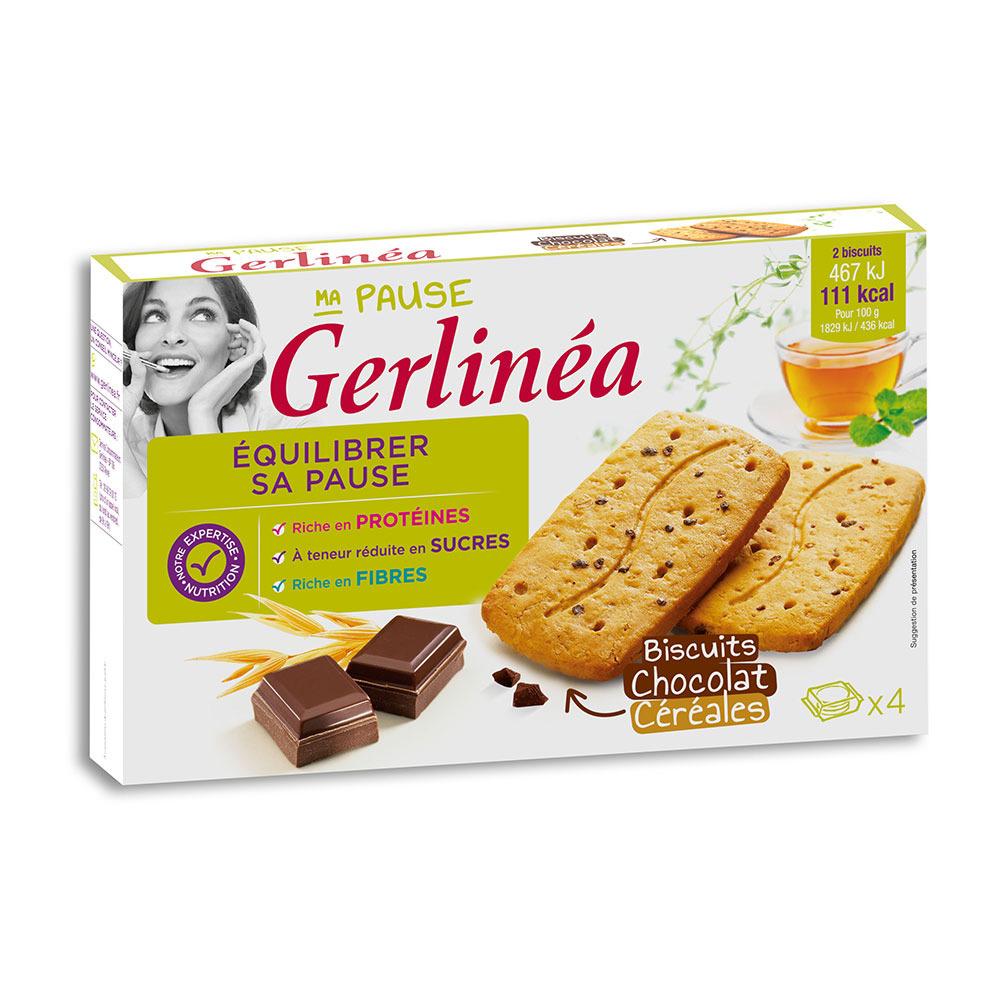 GERLINEA Gerlinéa EN-CAS - Paquets de biscuits x6 chocolat ...