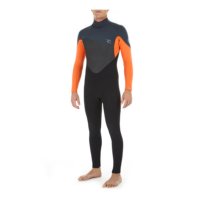RIP CURL - OMEGA BACK ZIP - Combinaison 4/3mm Homme orange