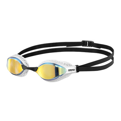 ARENA - AIR SPEED MIRROR - Lunettes de natation yellow copper/white