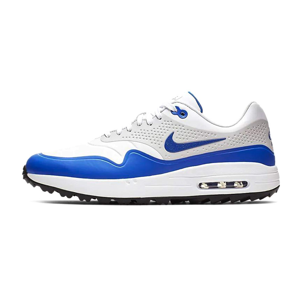 OPERATION GOLF Nike AIR MAX 1G - Chaussures golf Homme blanc/bleu ...