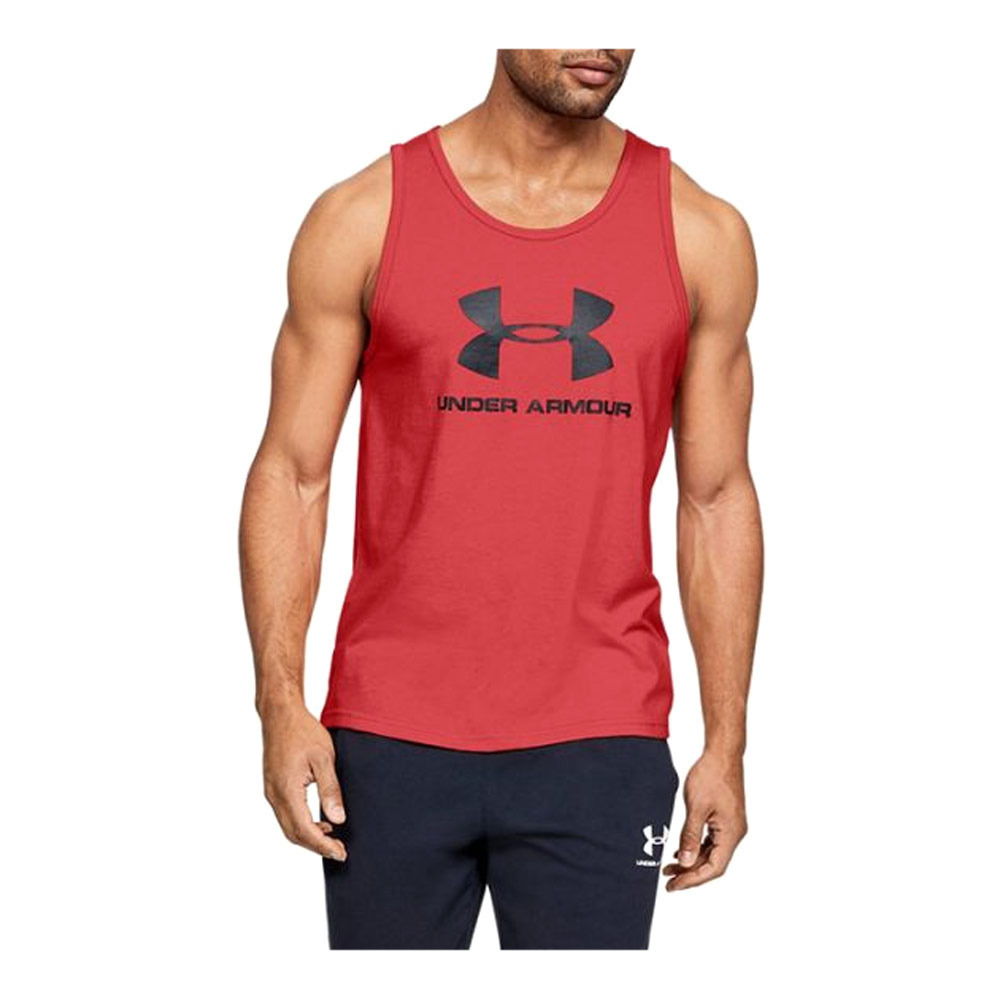 Portero Envío Sabueso  UNDER ARMOUR Under Armour SPORTSTYLE LOGO - Camiseta de tirantes hombre red  - Private Sport Shop
