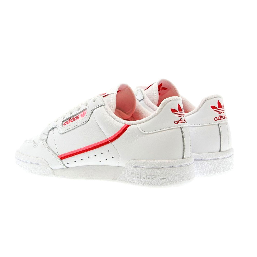 Soldes > adidas continental 80 rouge > en stock
