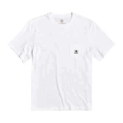ELEMENT - BASIC POCKET LABEL S Homme OPTIC WHITE