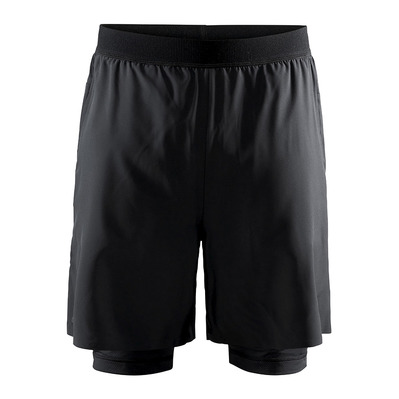 CRAFT - RACING VENT - Short 2 en 1 Homme noir