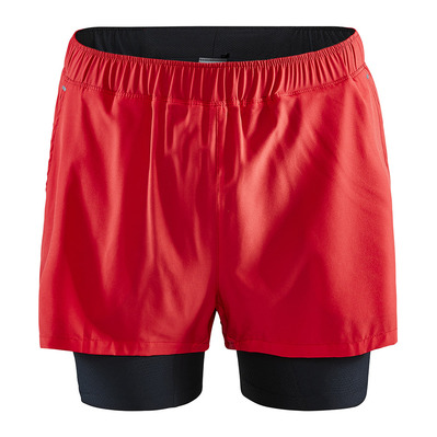CRAFT - ESSENCE ADV STRETCH - Short 2 en 1 Homme rouge