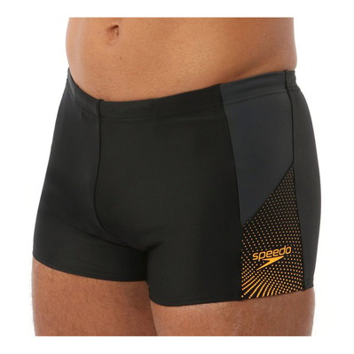 SPEEDO - DIVE - Swimming Trunks - Men's - black/grey/orange