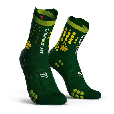 COMPRESSPORT - Pro Racing Socks v3.0 Trail Unisexe STEALTH GREEN