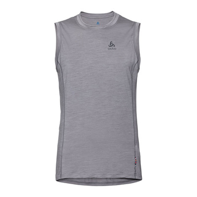 ODLO - BL TOP Crew neck Singlet NATURAL + LIGHT Homme grey melange