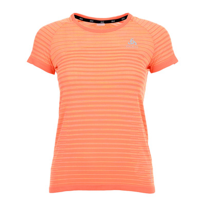 ODLO - Camiseta s/s crew neck BLACKCOMB PRO mujer hot coral - space dye